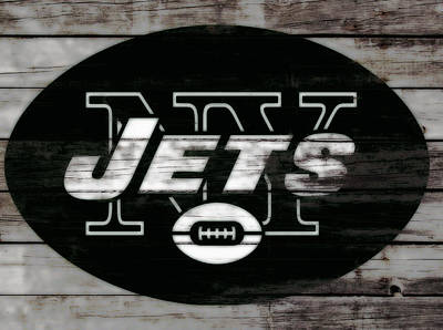 Tebow Mixed Media - The New York Jets 3c by Brian Reaves