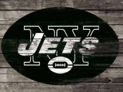 Tebow Mixed Media - The New York Jets 3f by Brian Reaves