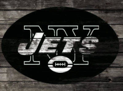 Tim Tebow Mixed Media - The New York Jets 3i by Brian Reaves
