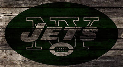 Patriot Mixed Media - The New York Jets W1 by Brian Reaves