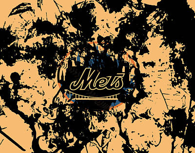 New York Mets Stadium Mixed Media - The New York Mets 1a by Brian Reaves
