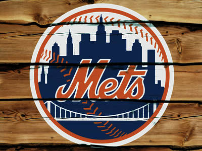 New York Mets Mixed Media - The New York Mets 1w by Brian Reaves