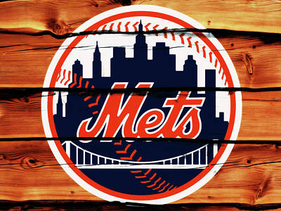 New York Mets Mixed Media - The New York Mets 2w by Brian Reaves