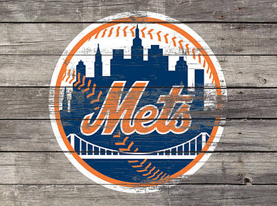 New York Mets Mixed Media - The New York Mets 3c by Brian Reaves