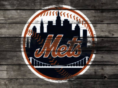 New York Mets Mixed Media - The New York Mets 3e by Brian Reaves