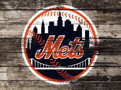 New York Mets Mixed Media - The New York Mets 3f by Brian Reaves