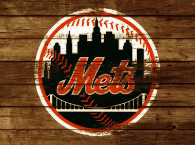 New York Mets Mixed Media - The New York Mets 3h by Brian Reaves