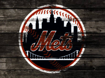 New York Mets Stadium Mixed Media - The New York Mets 3j by Brian Reaves
