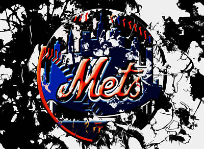 New York Mets Stadium Mixed Media - The New York Mets 6a by Brian Reaves