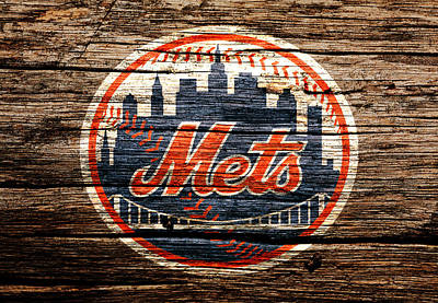 New York Mets Mixed Media - The New York Mets 6d by Brian Reaves