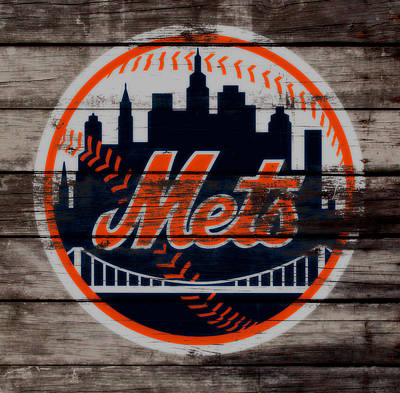 New York Mets Mixed Media - The New York Mets C3 by Brian Reaves