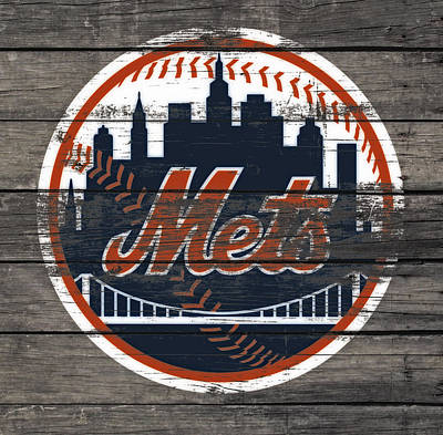 New York Mets Stadium Mixed Media - The New York Mets C4 by Brian Reaves