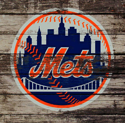 New York Mets Stadium Mixed Media - The New York Mets C5 by Brian Reaves