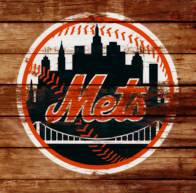 New York Mets Stadium Mixed Media - The New York Mets C6 by Brian Reaves
