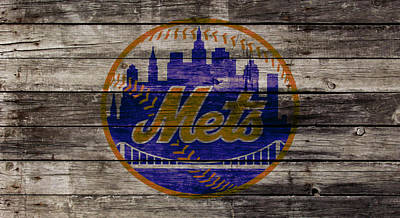 New York Mets Stadium Mixed Media - The New York Mets W1 by Brian Reaves