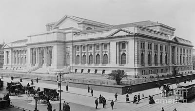 Library Painting - The New York Public Library by Celestial Images