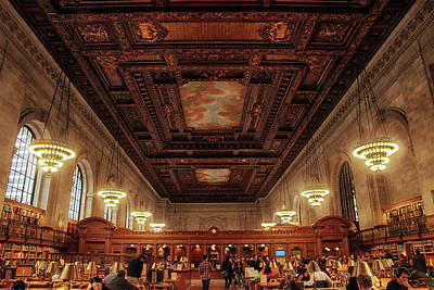 Bryant Park Photograph - The New York Public Library by Jessica Jenney