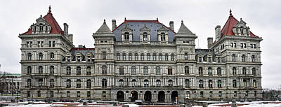 Photograph - The New York State Capitol In Albany New York by Brendan Reals