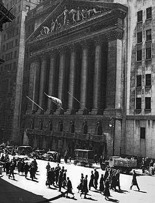 Stock Male Photograph - The New York Stock Exchange by Underwood Archives