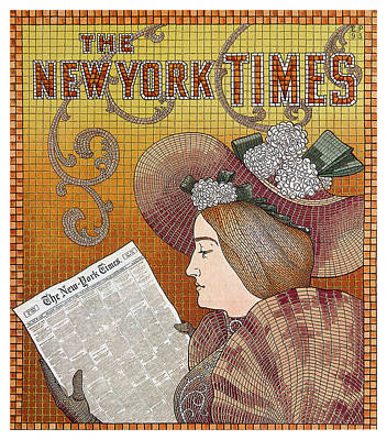 Royalty-Free and Rights-Managed Images - The New York Times - Magazine Cover - Vintage Art Nouveau Poster by Studio Grafiikka