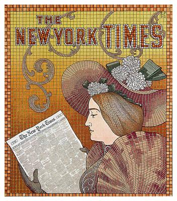 Mixed Media - The New York Times - Magazine Cover - Vintage Art Nouveau Poster by Studio Grafiikka