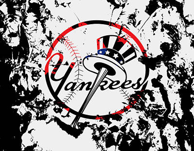 Ny Yankees Mixed Media - The New York Yankees 1b by Brian Reaves