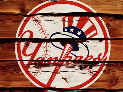Yankee Stadium Mixed Media - The New York Yankees 1w     by Brian Reaves
