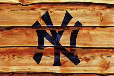 Yankee Stadium Mixed Media - The New York Yankees 3w     by Brian Reaves