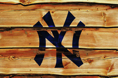 Yankee Stadium Mixed Media - The New York Yankees 4w     by Brian Reaves