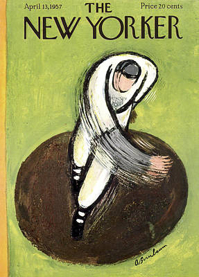 Pitcher Photograph - The New Yorker Cover - April 13th, 1957 by Abe Birnbaum