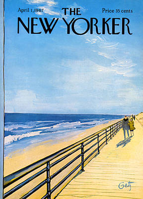 Sea Photograph - The New Yorker Cover - April 1st, 1967 by Arthur Getz