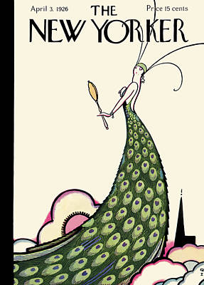 Beauty Drawing - The New Yorker Cover - April 3rd, 1926 by Rea Irvin