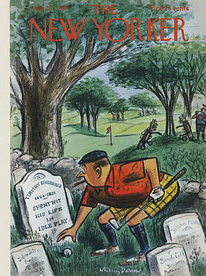 Golf Photograph - The New Yorker Cover - August 22nd, 1959 by Whitney Darrow