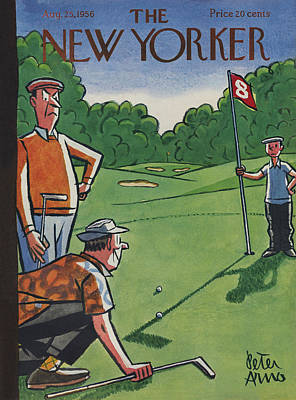 Sports Photograph - The New Yorker Cover - August 25th, 1956 by Peter Arno