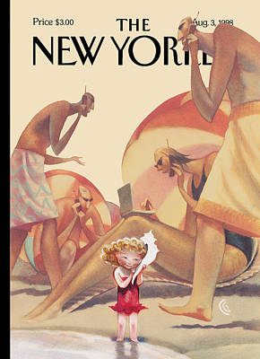 The New Yorker Cover - August 3rd, 1998 Art Print by Carter Goodrich