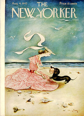Pets Photograph - The New Yorker Cover - August 4th, 1945 by Mary Petty