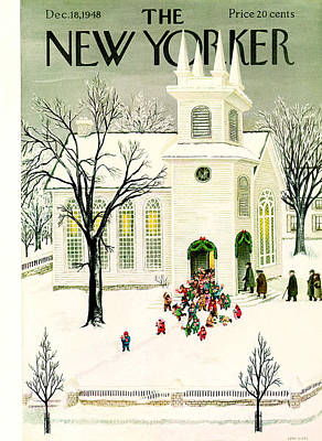 Painting - The New Yorker Cover - December 18th, 1948 by Conde Nast