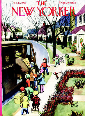 Lawn Photograph - The New Yorker Cover - December 19th, 1953 by Conde Nast