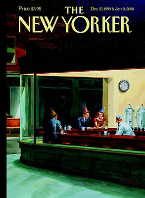 Sitting Photograph - The New Yorker Cover - December 27th, 1999 by Conde Nast