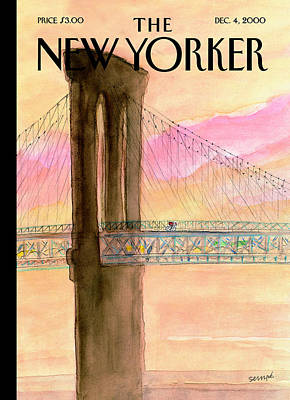 Jean-jacques Sempe Photograph - The New Yorker Cover - December 4th, 2000 by Jean-Jacques Sempe