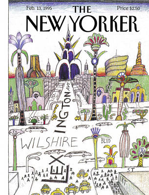 Photograph - The New Yorker Cover - February 13th, 1995 by Saul Steinberg