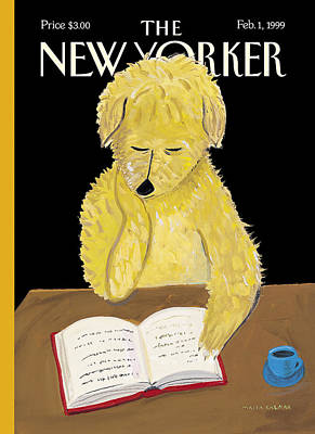 Animals Photograph - The New Yorker Cover - February 1st, 1999 by Maira Kalman