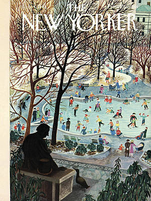 The New Yorker Cover - February 4th, 1961 Art Print by Ilonka Karasz
