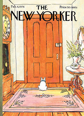 Stain Photograph - The New Yorker Cover - February 4th, 1974 by George Booth