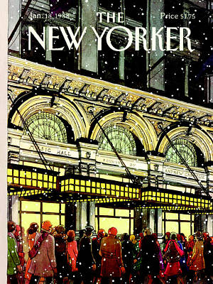 New York Photograph - The New Yorker Cover - January 18th, 1988 by Roxie Munro
