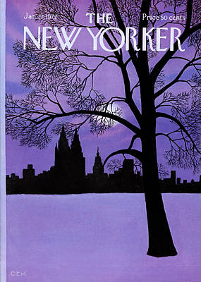 Winter Trees Photograph - The New Yorker Cover - January 22nd, 1972 by Charles E Martin