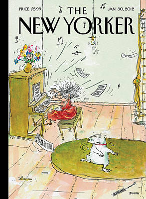 Photograph - The New Yorker Cover - January 30th, 2012 by George Booth