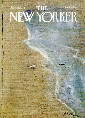 Seagull Photograph - The New Yorker Cover - July 10th, 1978 by Andre Francois