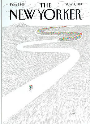 Tours Photograph - The New Yorker Cover - July 12th, 1999 by Jean-Jacques Sempe