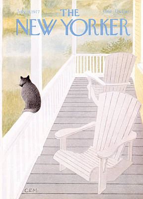 Porches Photograph - The New Yorker Cover - July 18th, 1977 by Charles E Martin